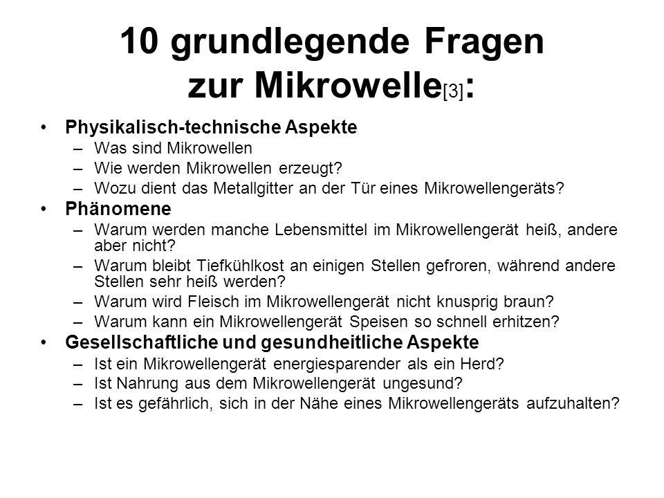 10 grundlegende Fragen zur Mikrowelle[3]: